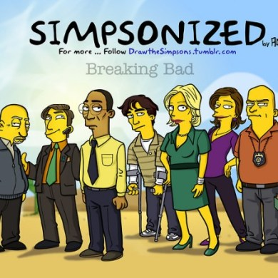 Breaking bad characters illustrated like the simpsons 20 - Breaking bad