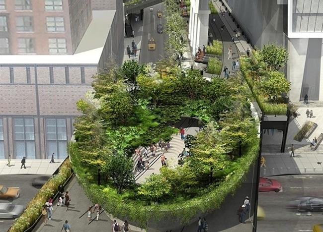 สวนผักในชามสลัดยักษ์ ..ณ The High Line สวนสาธารณะที่สร้างจากทางรถไฟเก่า ในนิวยอร์ค 13 - the high line