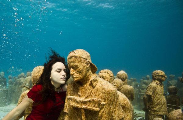 ool The Museo Subacuatico de Arte Project พิพิธภัณฑ์ใต้น้ำ ดำน้ำชมประติมากรรม