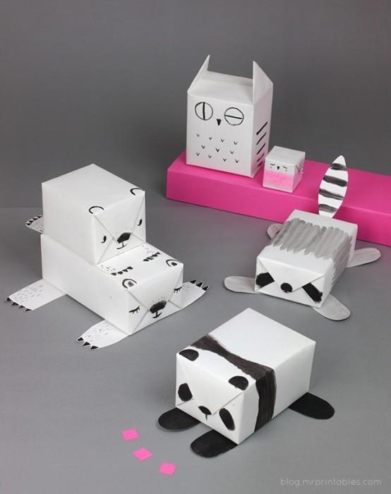 DIY Animal Gift Wrap..ห่อของขวัญเป็นสัตว์น่ารักๆ 13 - Gift