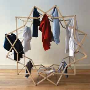 Star-shaped clothes horse ราวตากผ้าเน้นพื่นที่จำกัด 24 - cloth