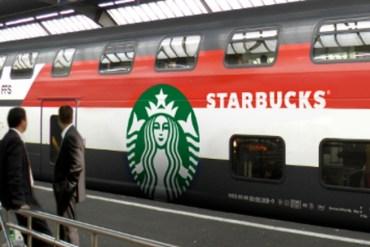 "The railway experience with starbucks on a train ""ขบวนรถไฟ สตาร์บัคส์"" 18 - train"