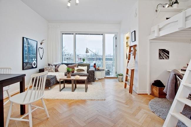 """ห้องพัก 29 ตร.ม. เล็กจริงหรือ? ไอเดียสวีเดนเปลี่ยน """"ห้องเล็กๆ"""" ให้กลายเป็น """"บ้าน"""" 16 - 100 Share+"""