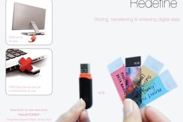 dataSTICKIES..เหมือนกระดาษโน๊ต แต่ไว้ถ่ายโอนและเก็บข้อมูลแบบ USB flash drive 14 - Red dot award