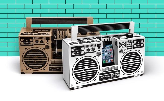 25570303 194757 ลำโพงสมาร์ทโฟน จากกระดาษกล่อง ในแบบ Boombox ของยุค80