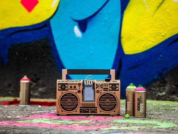 25570303 194817 ลำโพงสมาร์ทโฟน จากกระดาษกล่อง ในแบบ Boombox ของยุค80