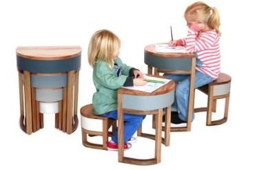 TABLES FOUR TWO โต๊ะเก้าอี้ 2ชุด ซ้อนเรียงกันอย่างฉลาด สำหรับบ้านพื้นที่จำกัด 20 - เก้าอี้