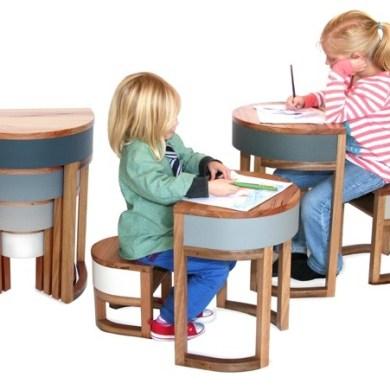 TABLES FOUR TWO โต๊ะเก้าอี้ 2ชุด ซ้อนเรียงกันอย่างฉลาด สำหรับบ้านพื้นที่จำกัด 14 - เก้าอี้