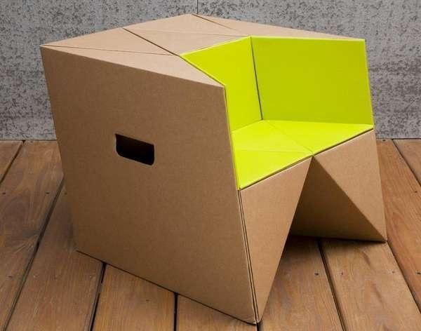 เก้าอี้origamiจากกระดาษกล่อง.. น้ำหนักเบา ปลอดภัย เป็นมิตรกับสิ่งแวดล้อม 13 - cardboard