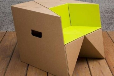 เก้าอี้origamiจากกระดาษกล่อง.. น้ำหนักเบา ปลอดภัย เป็นมิตรกับสิ่งแวดล้อม 19 - เก้าอี้