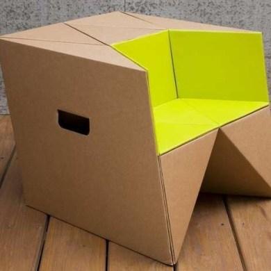 เก้าอี้origamiจากกระดาษกล่อง.. น้ำหนักเบา ปลอดภัย เป็นมิตรกับสิ่งแวดล้อม 16 - cardboard