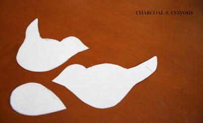 Bird templates DIY นกตั้งโต๊ะ จากคลิปหนีบกระดาษ