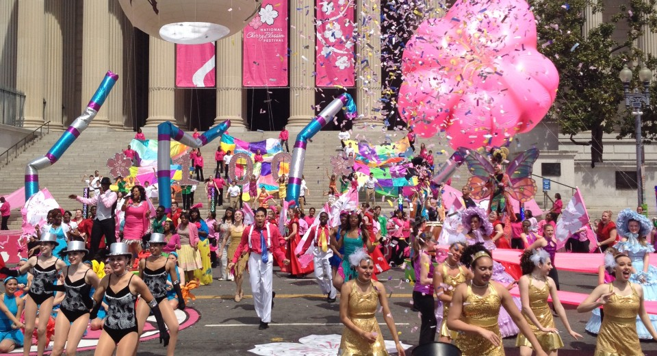 Cherry Blossom Parade เทศกาลซากุระ  National  Cherry Blossom Festival