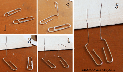 How to make paper clip bird legs (1)