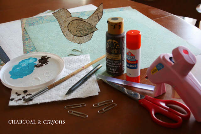 Scrappy Sparrow supplies DIY นกตั้งโต๊ะ จากคลิปหนีบกระดาษ