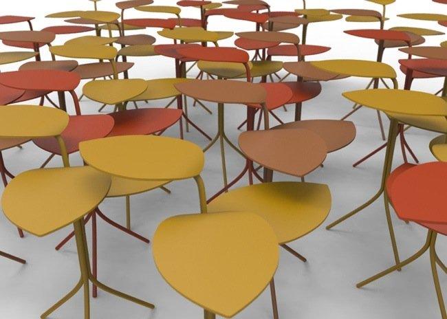 25570414 094207 โต๊ะที่ได้แรงบันดาลใจจากกิ่งไม้ ใบไม้..ในฤดูใบไม้ร่วง
