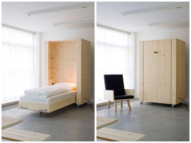 เตียงกล่องติดล้อ เปิดเมื่อต้องการใช้ ประหยัดพื้นที่  15 - เตียงนอน