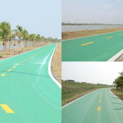 25570420 210615 สนามบินสุวรรณภูมิ เปิดถนนสีเขียว..ทางสำหรับจักรยานเท่านั้น รถห้ามวิ่ง