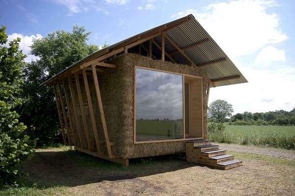 กระท่อมสมัยใหม่..ได้กลิ่นไอธรรมชาติด้วยผนังกองฟาง 23 - Sustainable design