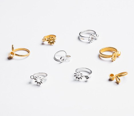 Spring rings by Gahee Kang incorporate flowers dezeen 4 Blooming Jewelry, Spring rings by Gahee Kang