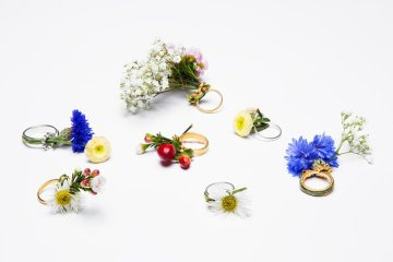 Blooming Jewelry, Spring rings by Gahee Kang 2 - Silver