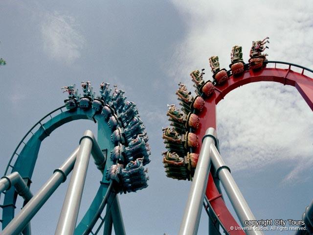 Universal Studio Roller Coaster เที่ยวสวนสนุก Sentosa ประเทศสิงคโปร์