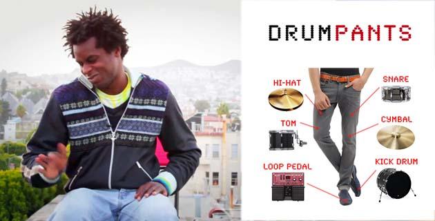 drumpants feeldesian Drumpants เปลี่ยนร่างกายให้เป็นเครื่องดนตรี