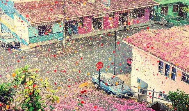 เมื่อภูเขาไฟระเบิดเป็น 8 ล้านกลีบดอกไม้ ปกคลุมทั่วหมู่บ้านใน Costa Rica 13 - Sony (โซนี่)