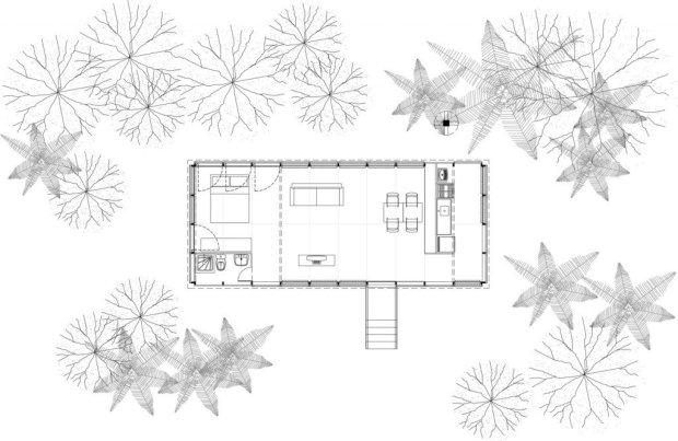 image2 650x423 บ้านในป่าร้อนชื้น โปร่งโล่ง กันแมลงแต่ไม่กั้นลม แสงสว่าง และธรรมชาติ