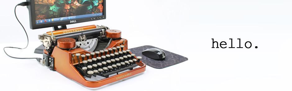 slideshow 1 USB Typewriter เครื่องพิมพ์ดีดต่อสายยูเอสบี