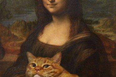 ศิลปินรัสเซียวาดภาพแมวอ้วนของเขาเข้าไปในงานศิลป์ระดับคลาสสิคของโลก 28 - แมว