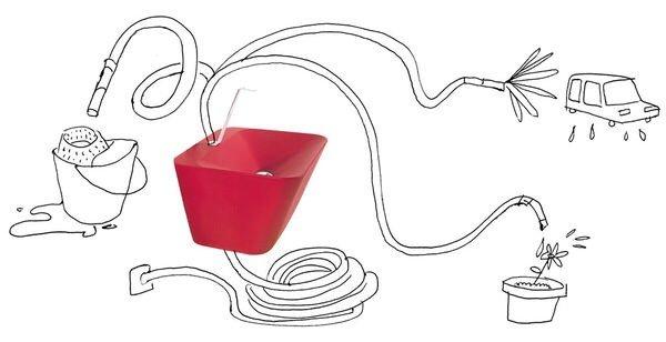 20140616 195452 71692093 Simplex Sink อ่างล้างมือ ที่ไม่ต้องมีก๊อกติดถาวร แต่ใช้สายยางเป็นก๊อกน้ำ