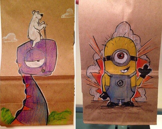20140620 201919 73159630 ยอดคุณพ่อนักวาด.. วาดภาพการ์ตูนบนถุงอาหารกลางวันของลูกชายทุกวันตลอด2ปี