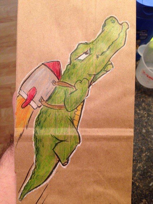 20140620 201920 73160517 ยอดคุณพ่อนักวาด.. วาดภาพการ์ตูนบนถุงอาหารกลางวันของลูกชายทุกวันตลอด2ปี