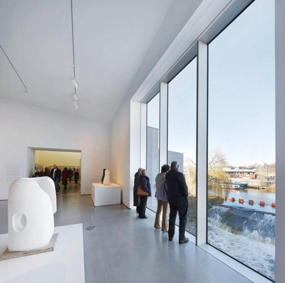 David Chipperfield Architects . Hepworth Wakefield . West Yorkshire 9 Hepworth Wakefield Gallary ดินแดงแห่งงานประติมากรรม
