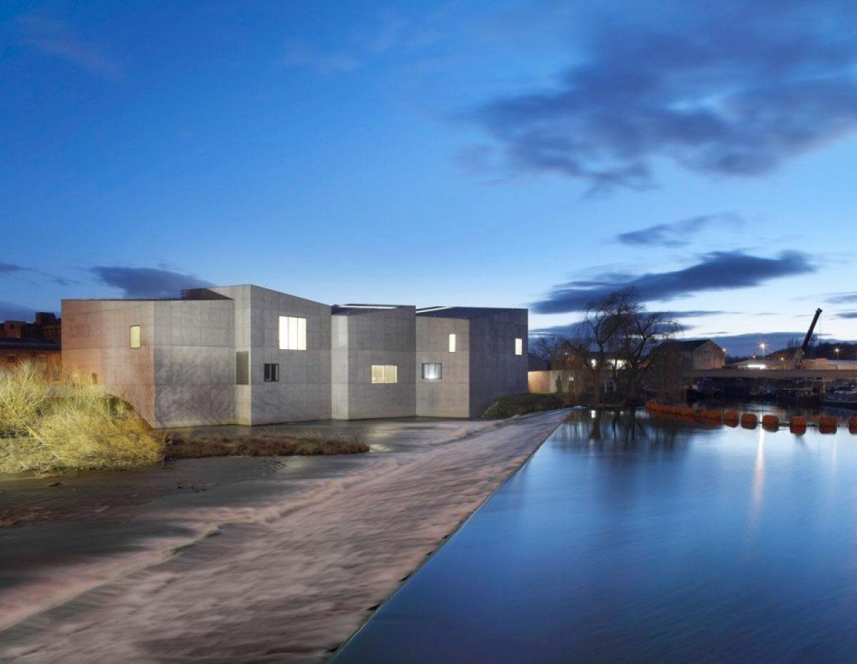 David Chipperfield Architects . Hepworth Wakefield . West Yorkshire Hepworth Wakefield Gallary ดินแดงแห่งงานประติมากรรม