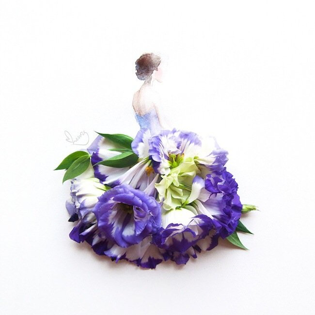 20140801 193644 70604507 เมื่อกลีบดอกไม้กลายเป็นชุดสวยชวนฝัน