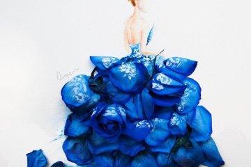 เมื่อกลีบดอกไม้กลายเป็นชุดสวยชวนฝัน 14 - กลีบดอกไม้