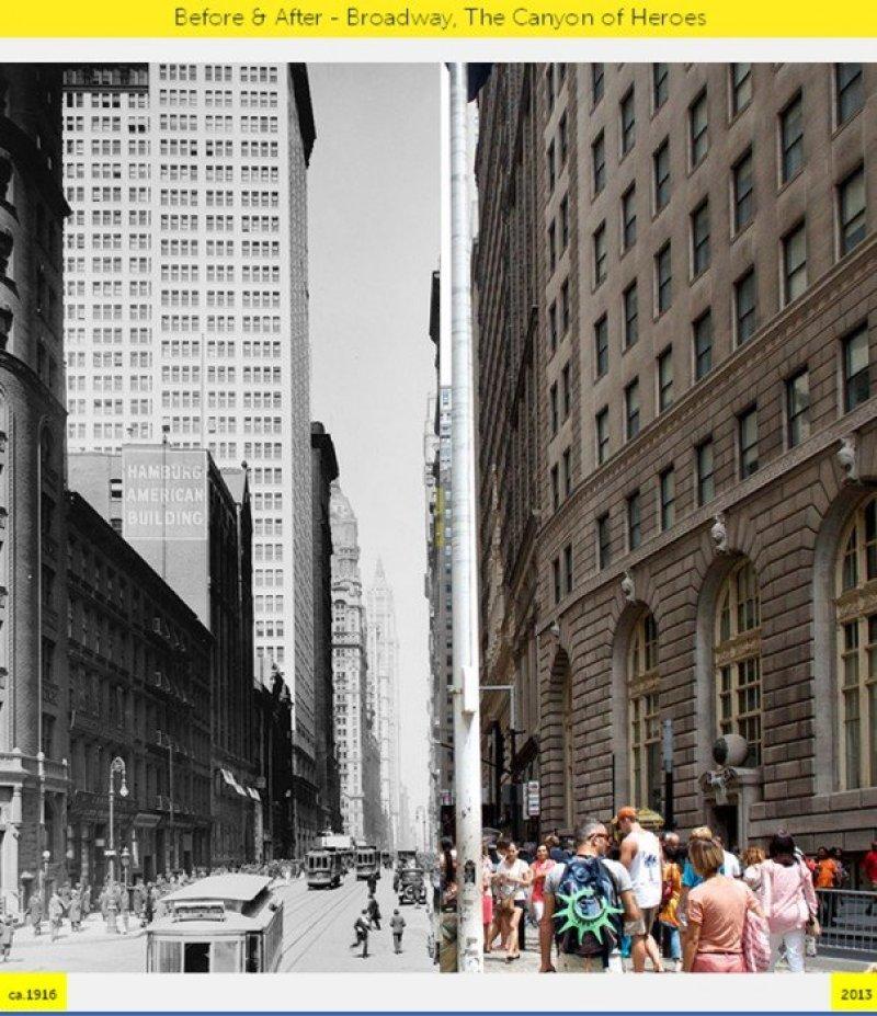 C5 NYC GRID Before & After ภาพถ่ายเปรียบเทียบอดีต ปัจจุบัน