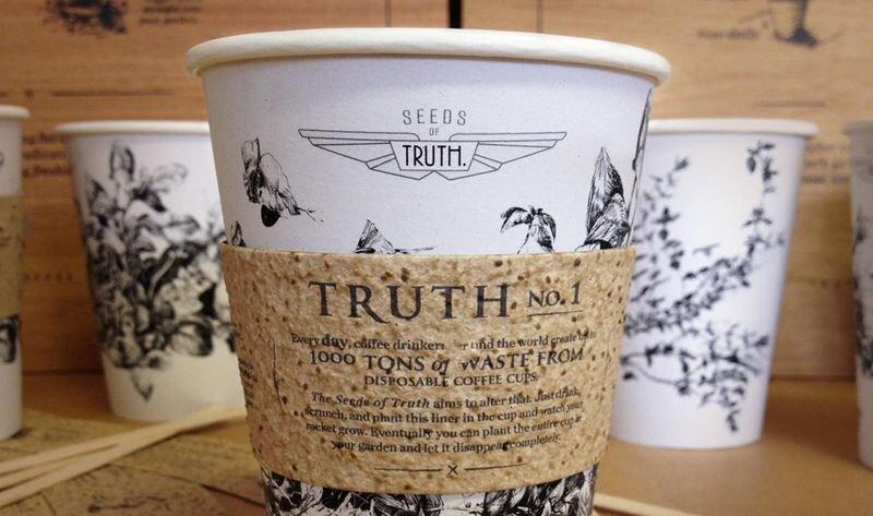 IMG 4586 ถ้วยกาแฟรักโลก รีไซเคิลขยะเป็นกระถางต้นไม้จากเมล็ดพืชฝังอยู่