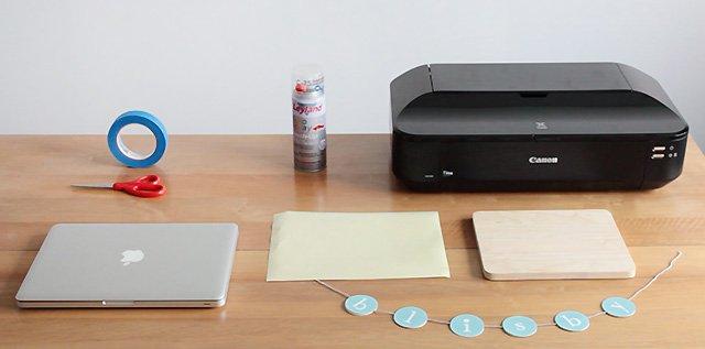 อุปกรณ์ในการพิมพ์ภาพบนไม้