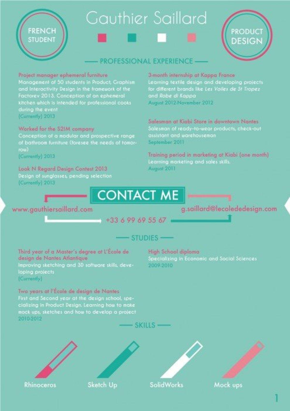 f30dde304a2a6735174290975764adb9 10 creative cv และ resume ที่สร้างตัวเองโดดเด่น