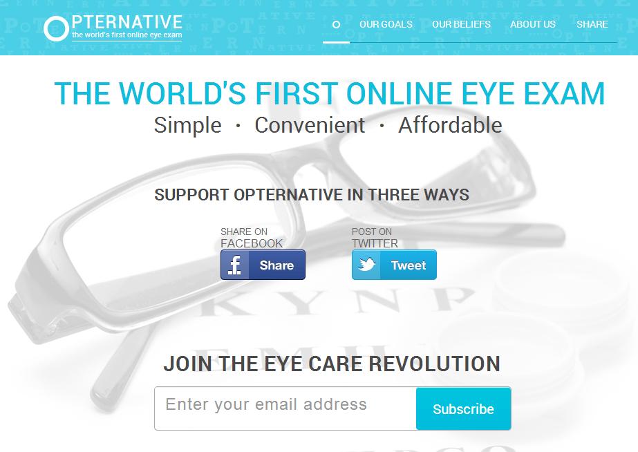 opternative วัดสายตาออนไลน์กับ Online Refractive Eye Exams