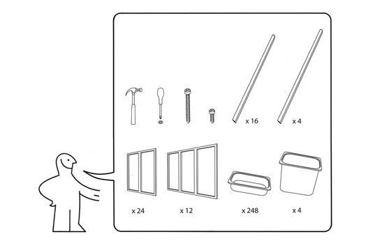 IMG 4832 สร้างบาร์หรือบู้ธชั่วคราวด้วยกล่องใส่ของ IKEA