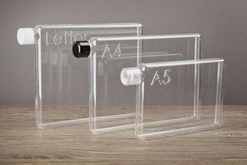 ขวดน้ำรูปร่างสี่เหลี่ยมแบนๆแบบแผ่นกระดาษ จัดเก็บในกระเป๋าสะดวก..เท่มาก! 22 - ขวดน้ำ