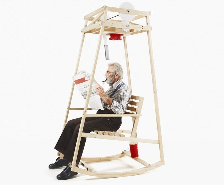'Rocking Knit' เก้าอี้โยก..ถักไหมพรมให้ระหว่างนั่งโยก 13 - rocking chair