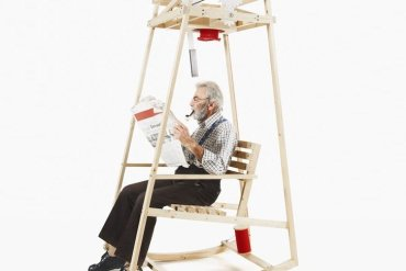 'Rocking Knit' เก้าอี้โยก..ถักไหมพรมให้ระหว่างนั่งโยก 18 - rocking chair