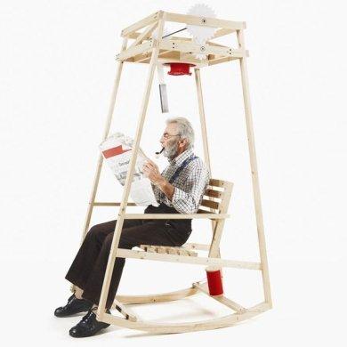 'Rocking Knit' เก้าอี้โยก..ถักไหมพรมให้ระหว่างนั่งโยก 15 - rocking chair