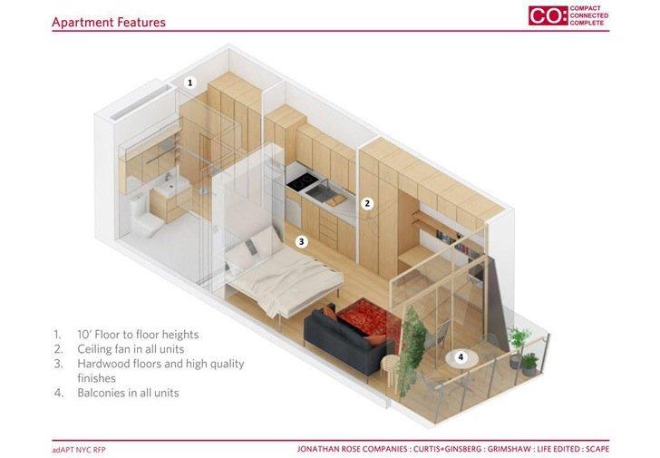 แนวคิดบ้านขนาดเล็กแบบยั่งยืน..พื้นที่บ้านเพียง 28 ตรม. แต่มีพื้นที่ส่วนกลางร่วมกันมาก 13 - Apartment
