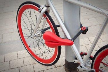 ที่นั่งจักรยาน ที่ทำหน้าที่เป็นโซ่ล็อก และที่เก็บไปในตัว 13 - จักรยาน